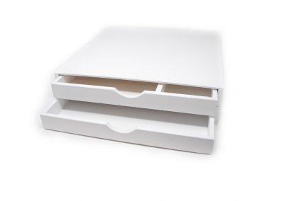 Caja dos cajones blanca