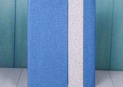 Sobre lino azul